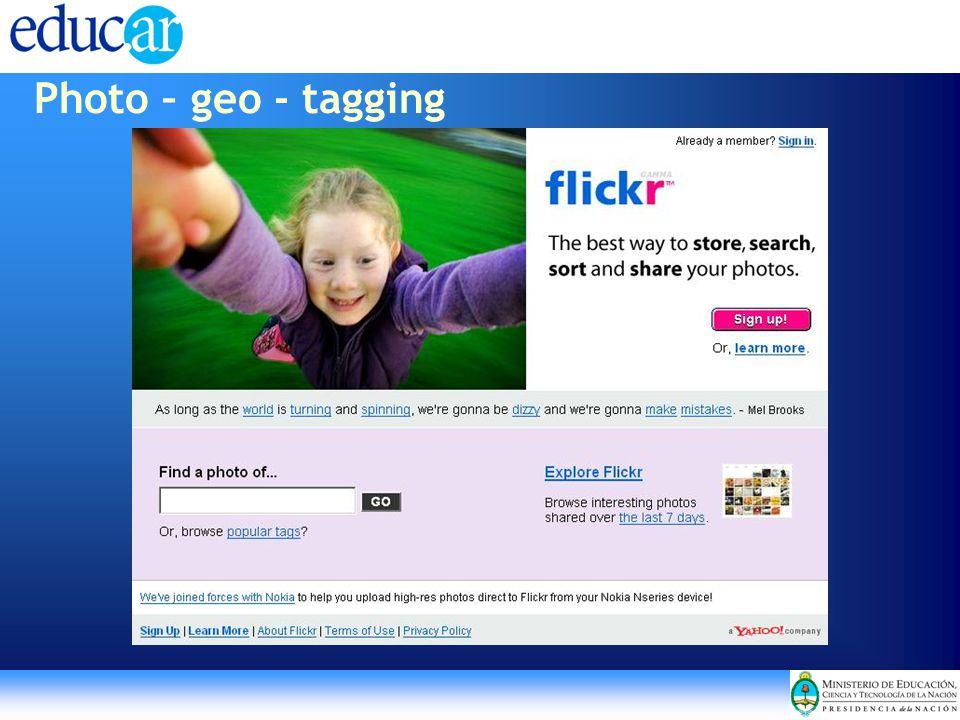 Photo – geo - tagging