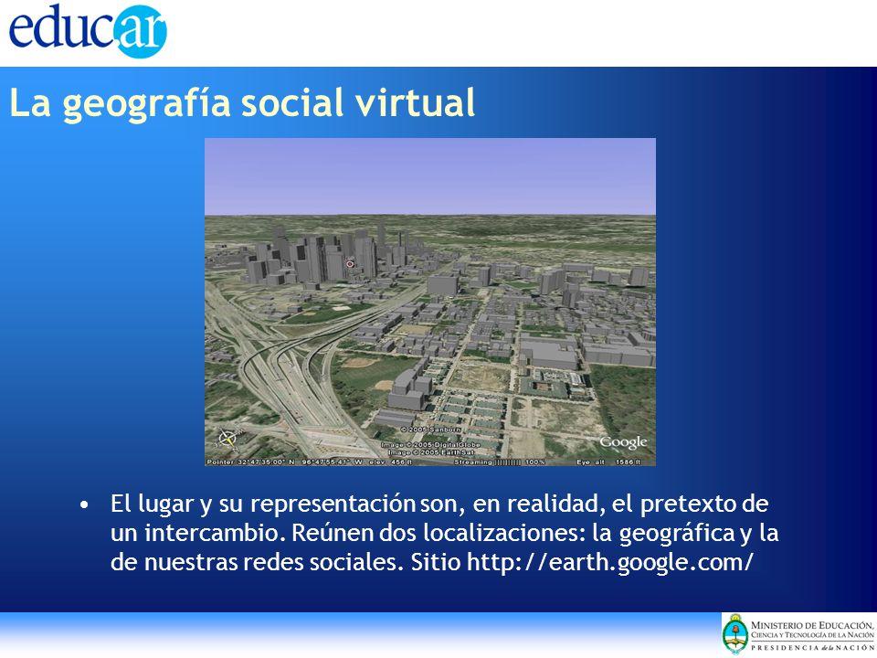 El lugar y su representación son, en realidad, el pretexto de un intercambio. Reúnen dos localizaciones: la geográfica y la de nuestras redes sociales