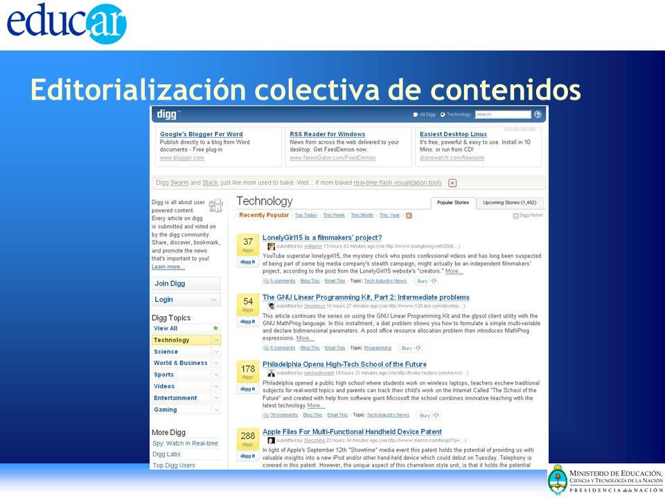 Editorialización colectiva de contenidos