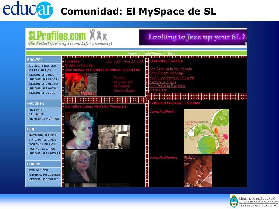 Comunidad: El MySpace de SL