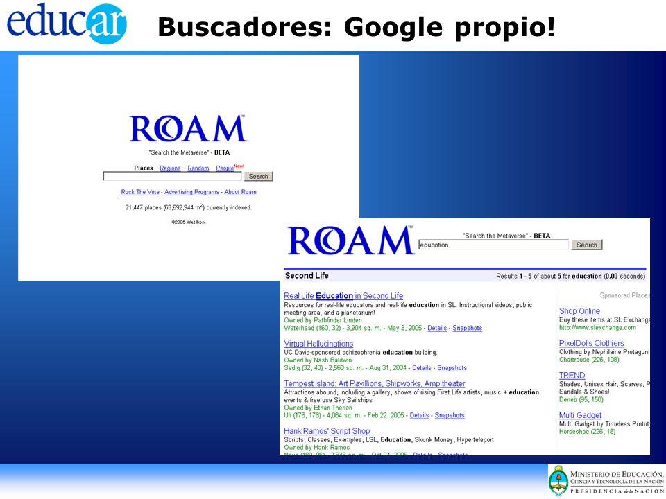 Buscadores: Google propio!