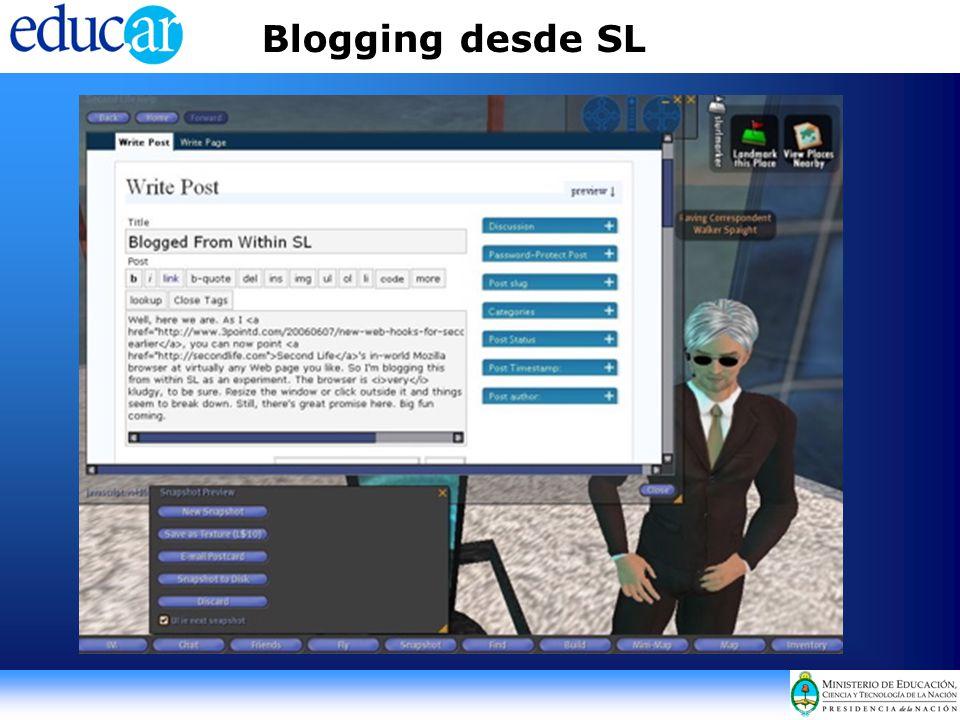 Blogging desde SL