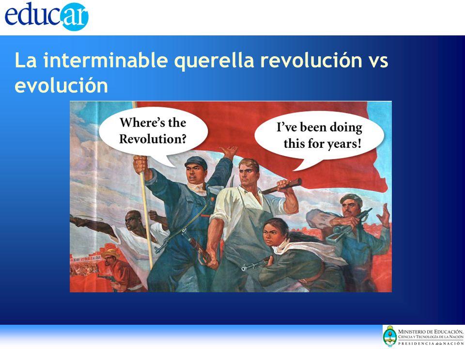 La interminable querella revolución vs evolución