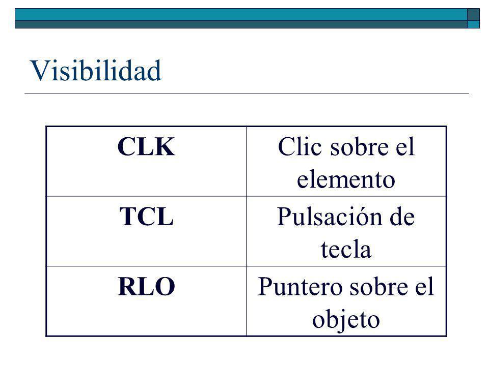 Diseño comunicacional: Objeto básico Nombre o Nro Tipo VIS