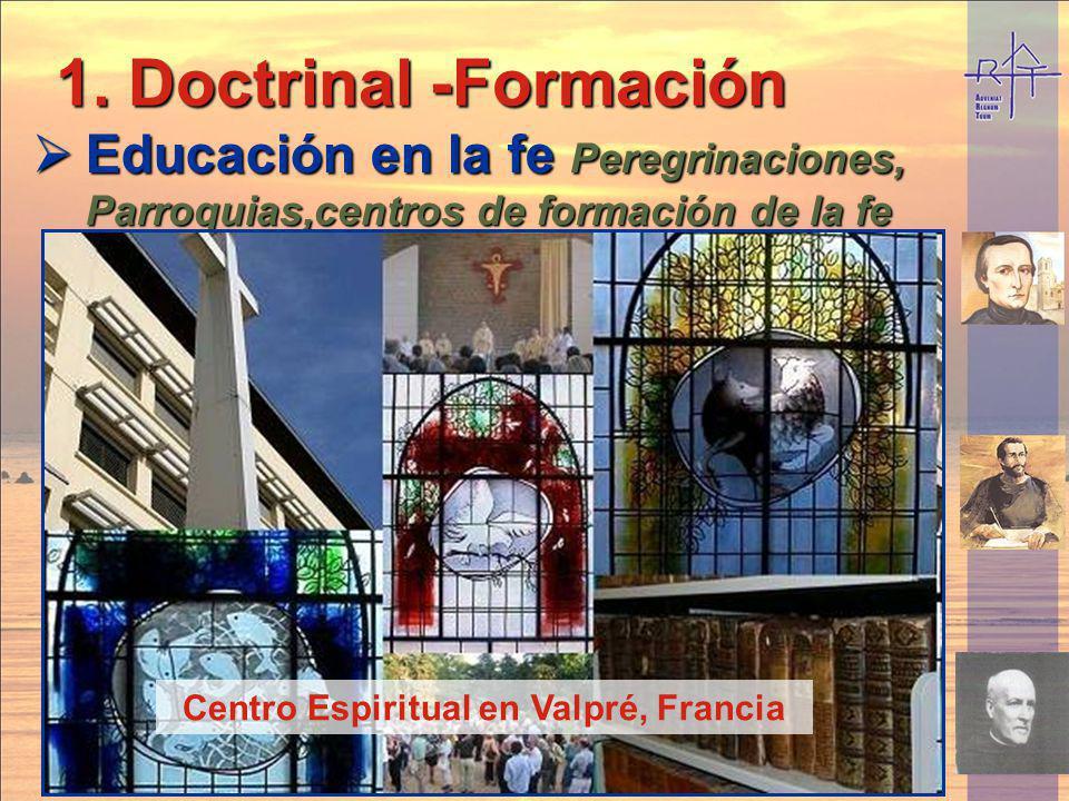 Peregrinación en bicicleta a Lourdes 1. Doctrinal -Formación Educación en la fe Peregrinaciones, Parroquias,centros de formación de la fe Educación en