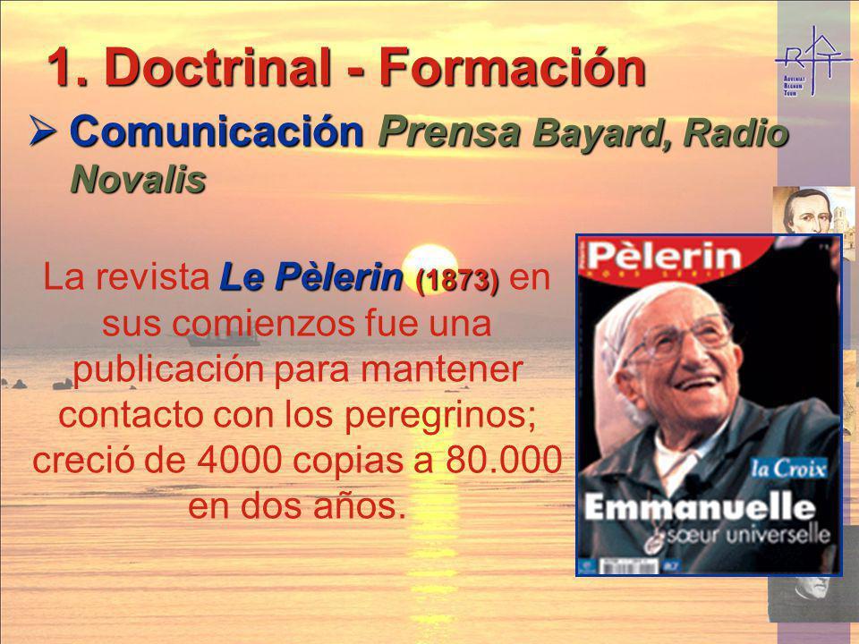 1. Doctrinal - Formación Comunicación Prensa Bayard, Radio Novalis Comunicación Prensa Bayard, Radio Novalis Le Pèlerin (1873) La revista Le Pèlerin (