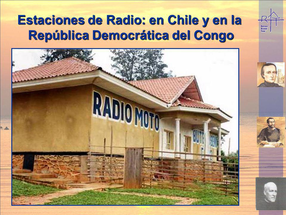Estaciones de Radio: en Chile y en la República Democrática del Congo Estaciones de Radio: en Chile y en la República Democrática del Congo