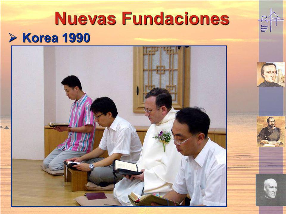 Nuevas fundaciones Nuevas fundaciones Ecuador 1996 Ecuador 1996