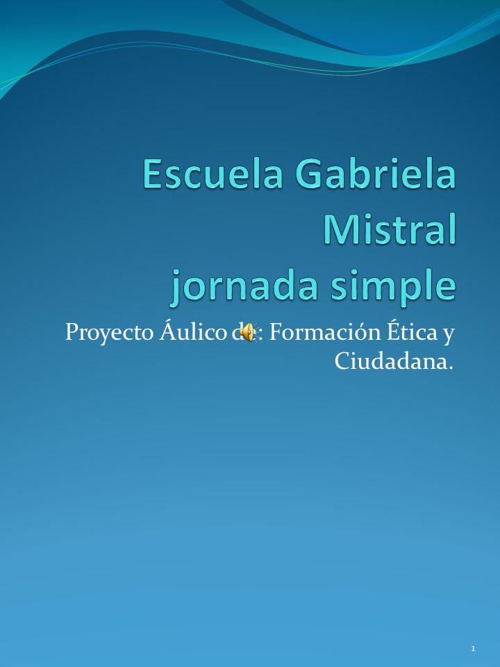 Proyecto Áulico de: Formación Ética y Ciudadana. 1