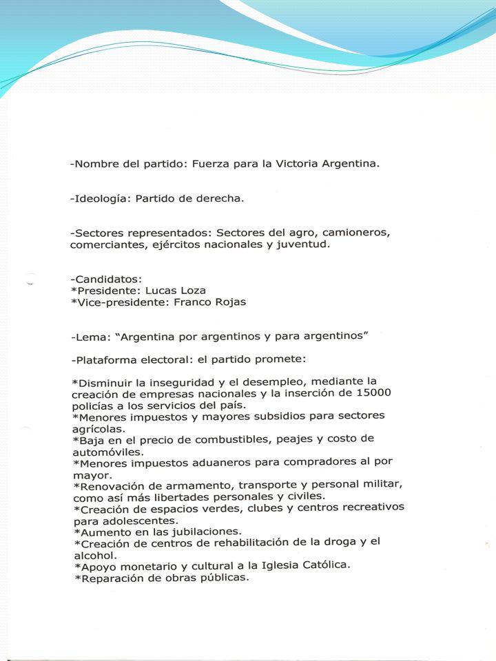 Logo del Partido Político: Fuerza para la Victoria Argentina. 6