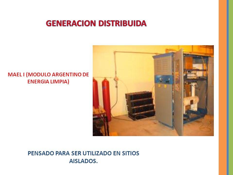 MAEL I (MODULO ARGENTINO DE ENERGIA LIMPIA) PENSADO PARA SER UTILIZADO EN SITIOS AISLADOS.