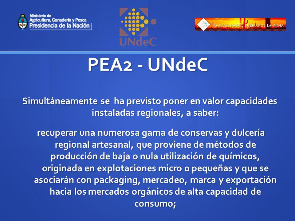 PEA2 - UNdeC Se promoverán estrategias asociativas entre los micro y pequeños productores tanto a nivel de la producción primaria, como en la de agregado de valor y comercialización.