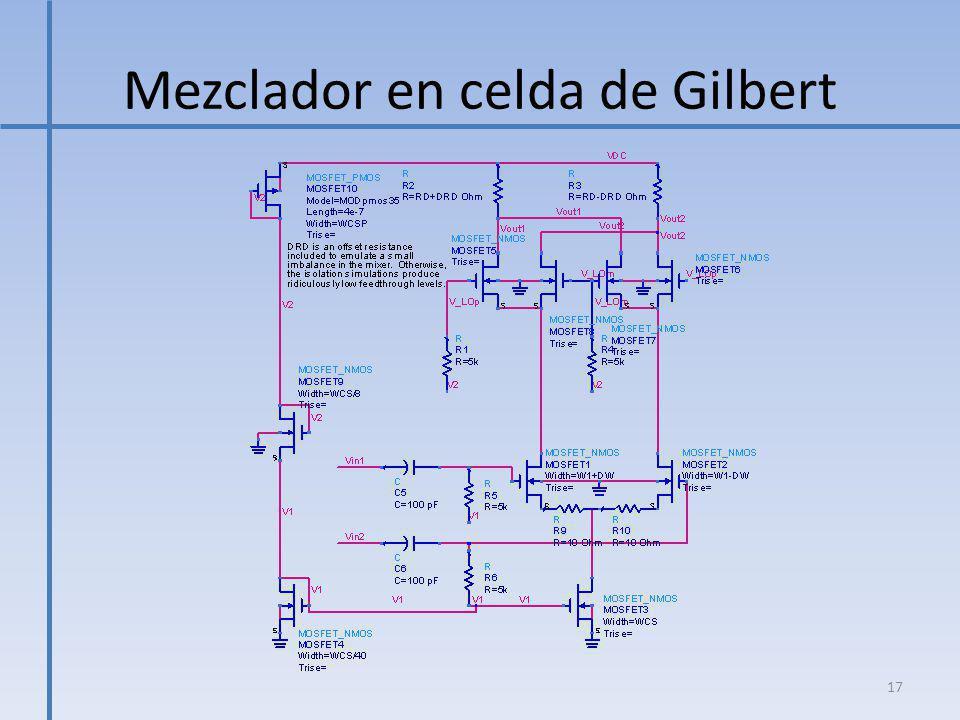 Mezclador en celda de Gilbert 17