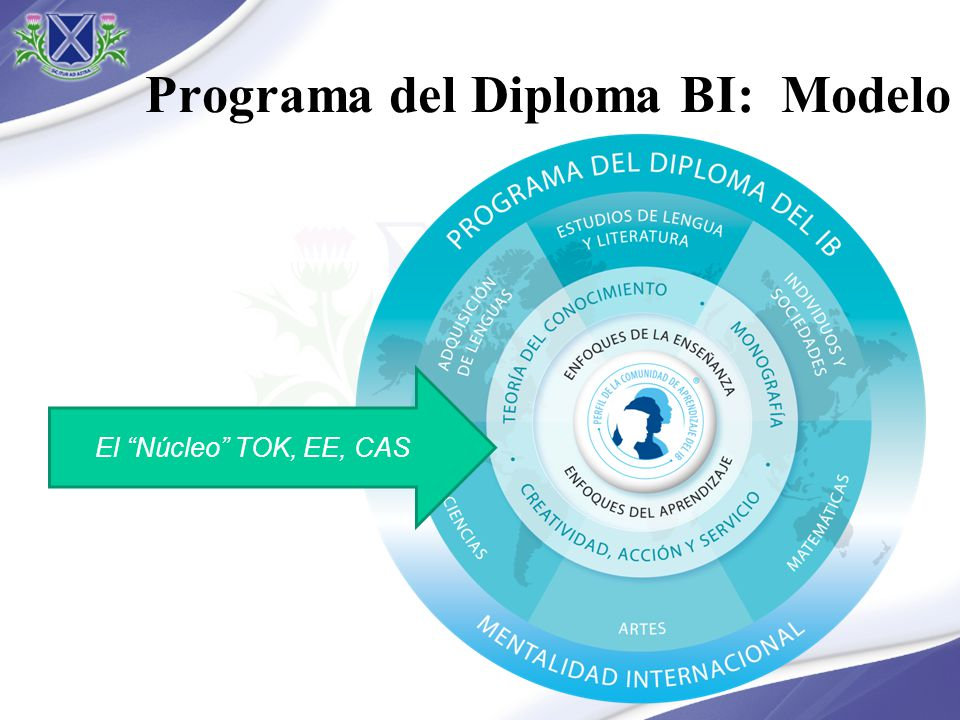 Programa del Diploma BI: Modelo El Núcleo TOK, EE, CAS