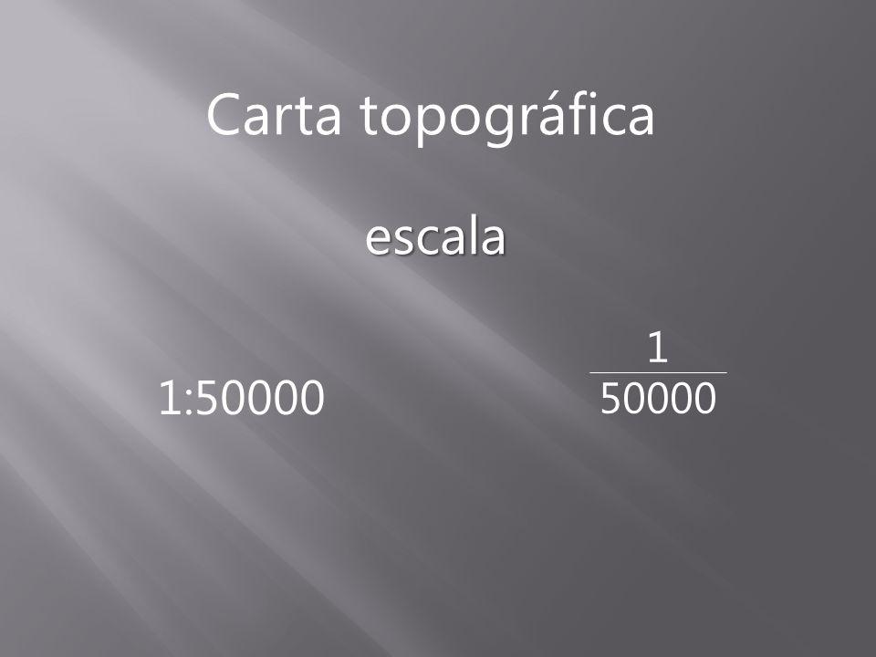 escala Carta topográfica 1:50000 1 50000