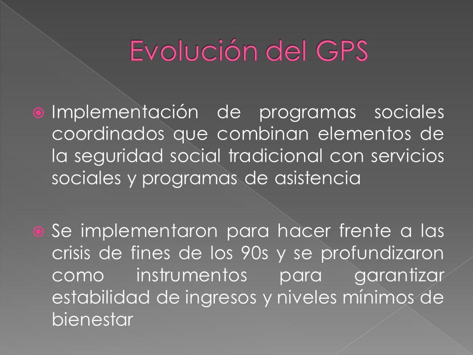 Implementación de programas sociales coordinados que combinan elementos de la seguridad social tradicional con servicios sociales y programas de asist