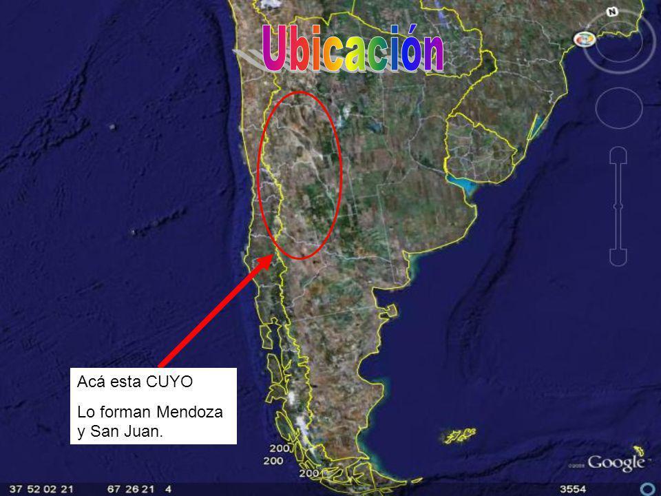 Acá esta CUYO Lo forman Mendoza y San Juan.