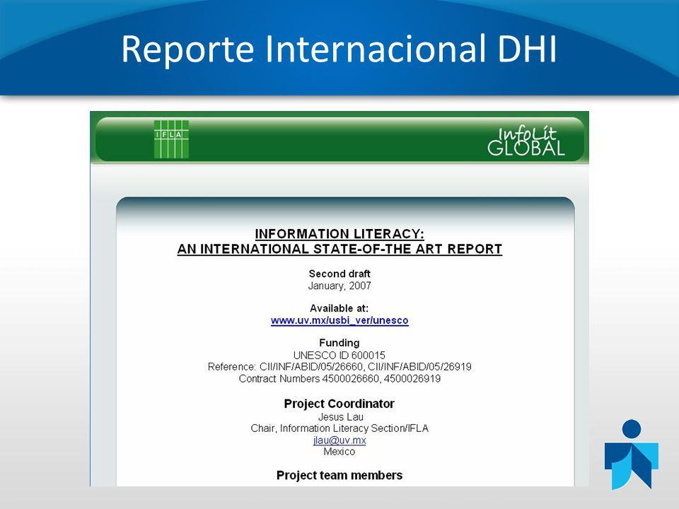 Reporte Internacional DHI
