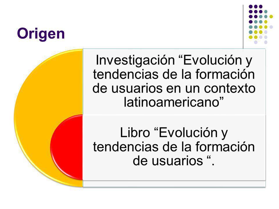 Origen Investigación Evolución y tendencias de la formación de usuarios en un contexto latinoamericano Libro Evolución y tendencias de la formación de