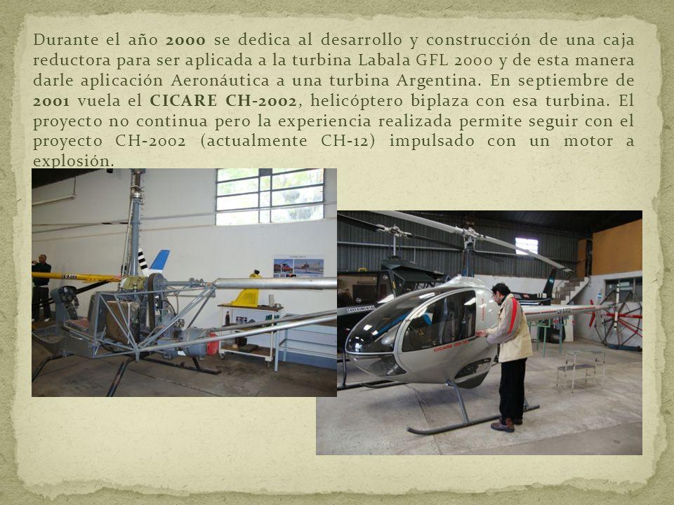 Durante el año 2000 se dedica al desarrollo y construcción de una caja reductora para ser aplicada a la turbina Labala GFL 2000 y de esta manera darle