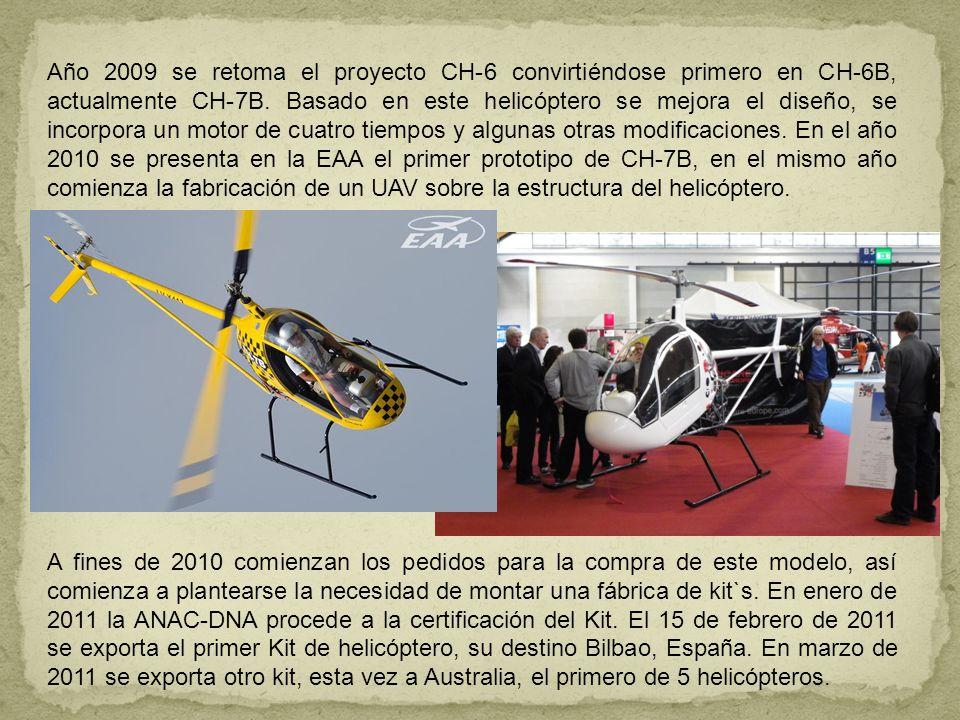 Año 2009 se retoma el proyecto CH-6 convirtiéndose primero en CH-6B, actualmente CH-7B. Basado en este helicóptero se mejora el diseño, se incorpora u