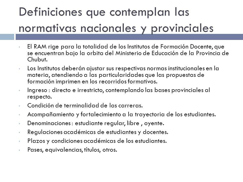 Relación ROM - ROI ROM Principios Generales La educación Superior de la provincia de Chubut, se define como parte del Sistema de Educación Nacional y Federal, integrando en el nivel provincial las definiciones de política educativa para el conjunto del sistema y las características que le otorgan identidad a las instituciones que lo componen.