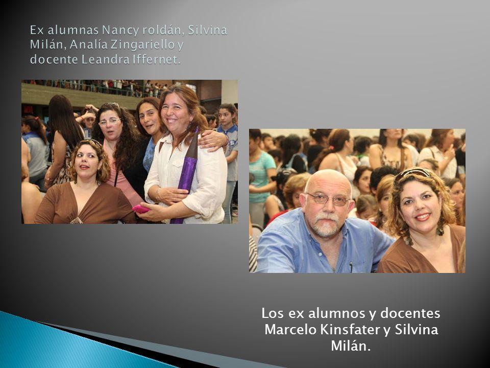 Los ex alumnos y docentes Marcelo Kinsfater y Silvina Milán.