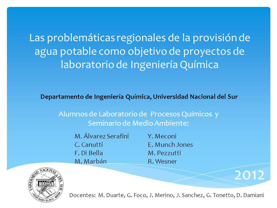 Alumnos de Laboratorio de Procesos Químicos y Seminario de Medio Ambiente: Las problemáticas regionales de la provisión de agua potable como objetivo