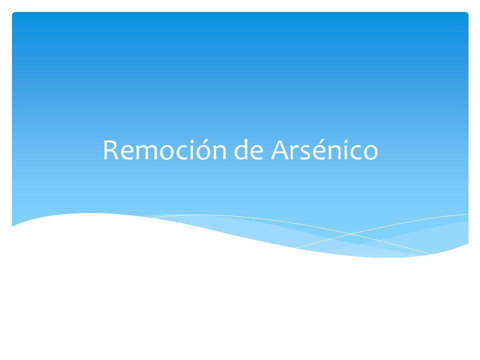 Remoción de Arsénico