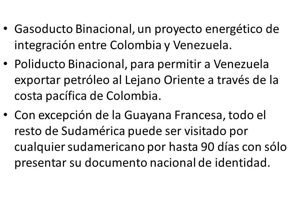 Gasoducto Binacional, un proyecto energético de integración entre Colombia y Venezuela. Poliducto Binacional, para permitir a Venezuela exportar petró