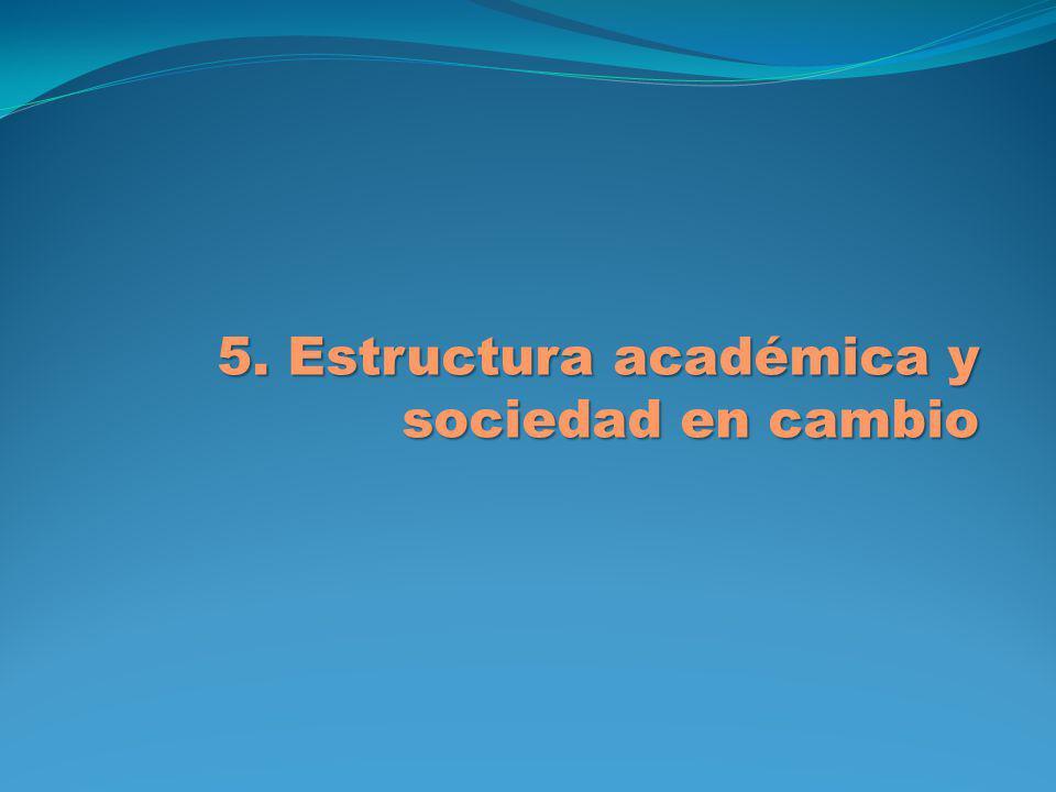 5. Estructura académica y sociedad en cambio 5. Estructura académica y sociedad en cambio