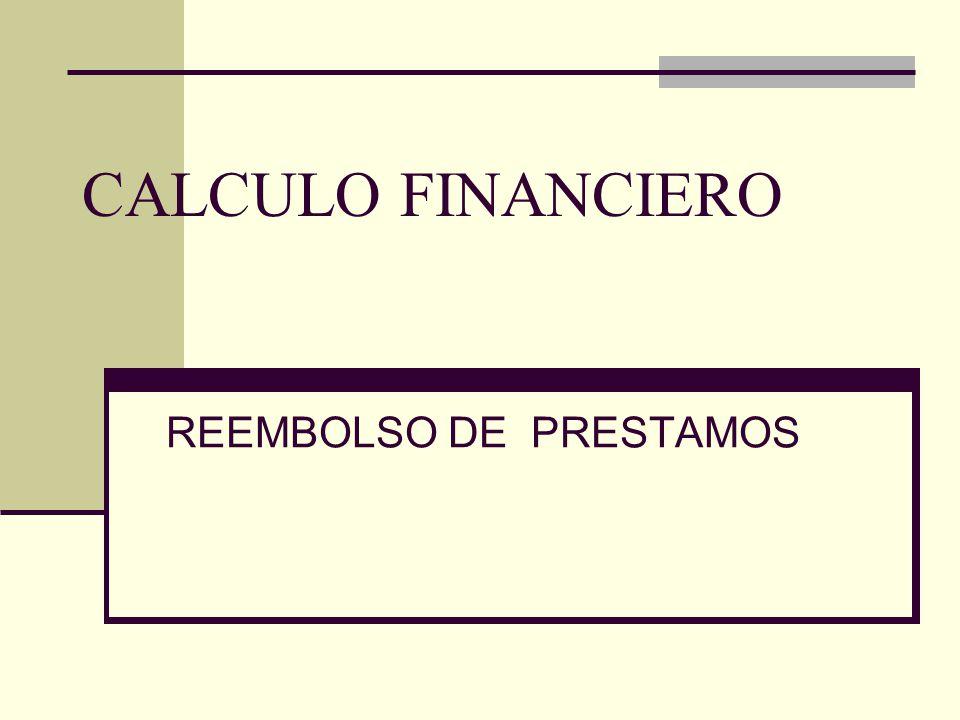 CALCULO FINANCIERO REEMBOLSO DE PRESTAMOS