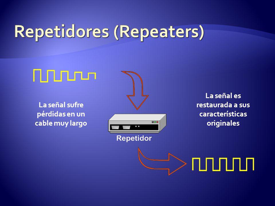 La señal sufre pérdidas en un cable muy largo La señal es restaurada a sus características originales