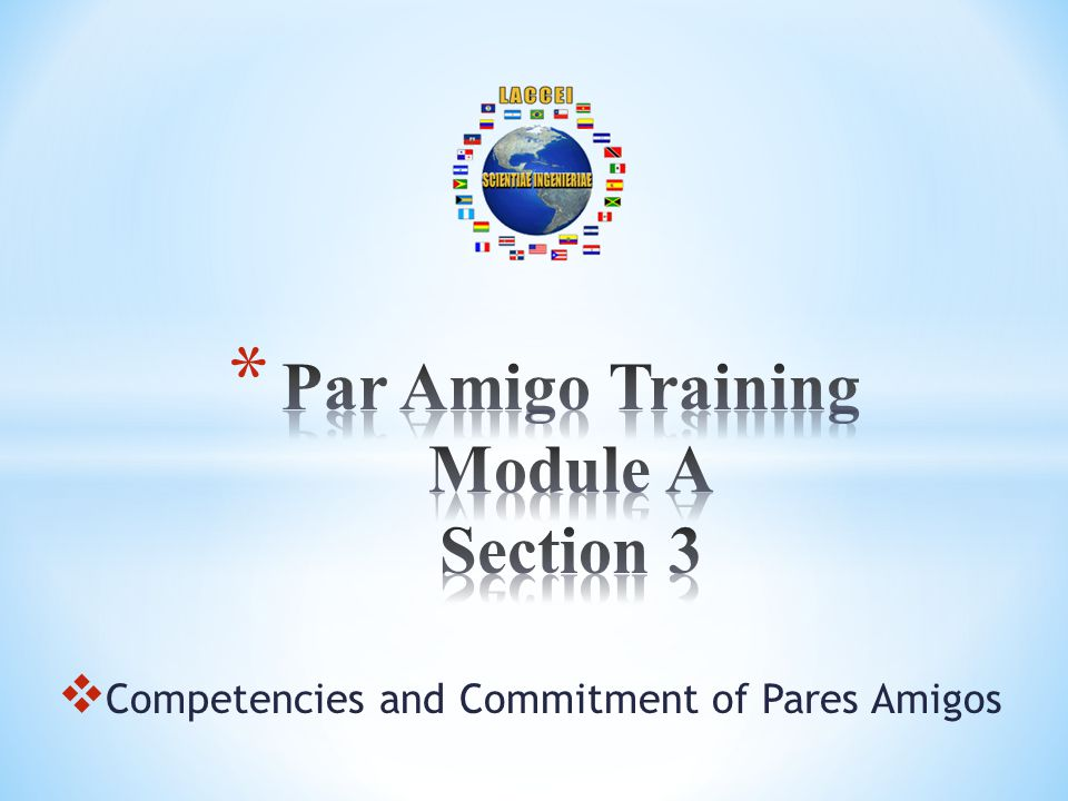 Competencies and Commitment of Pares Amigos