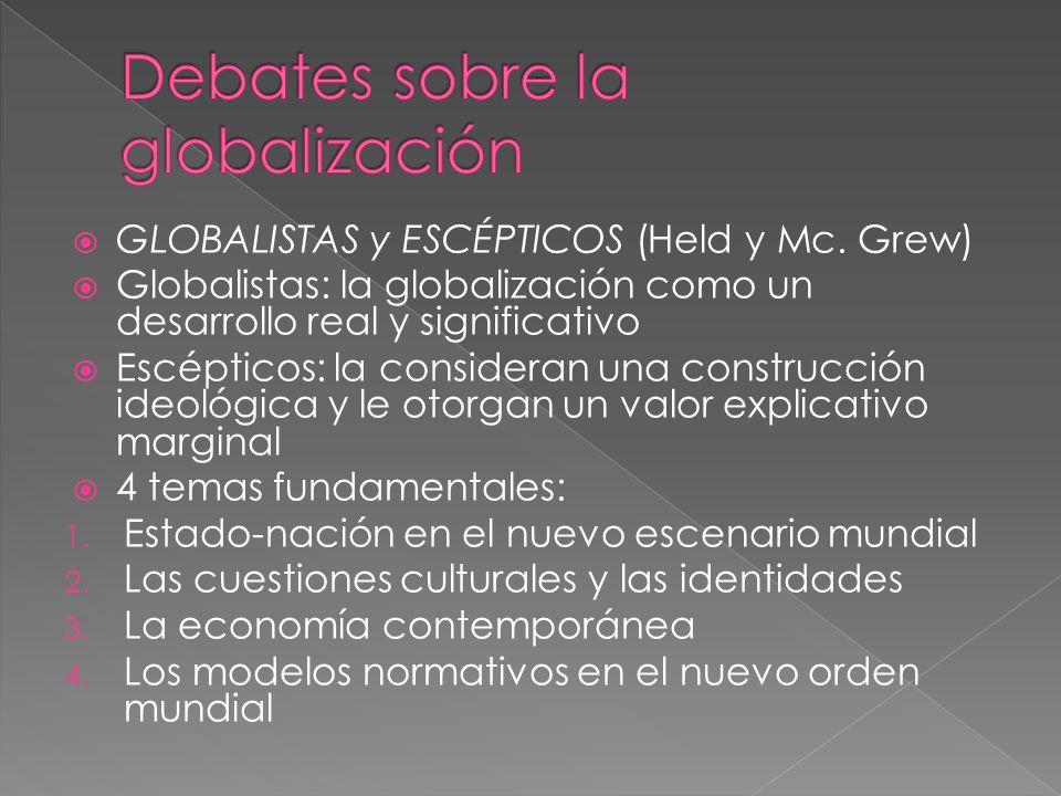 GLOBALISTAS y ESCÉPTICOS (Held y Mc.