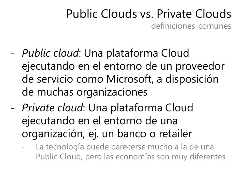 Public Clouds vs.