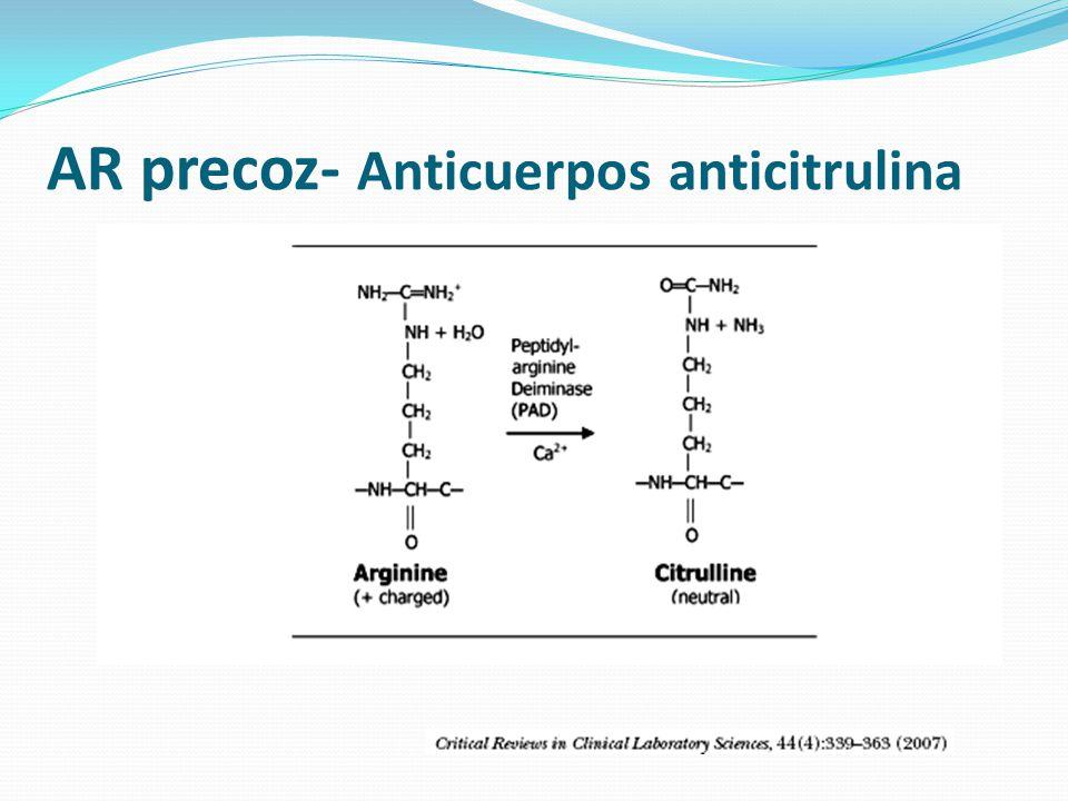AR precoz- Anticuerpos anticitrulina