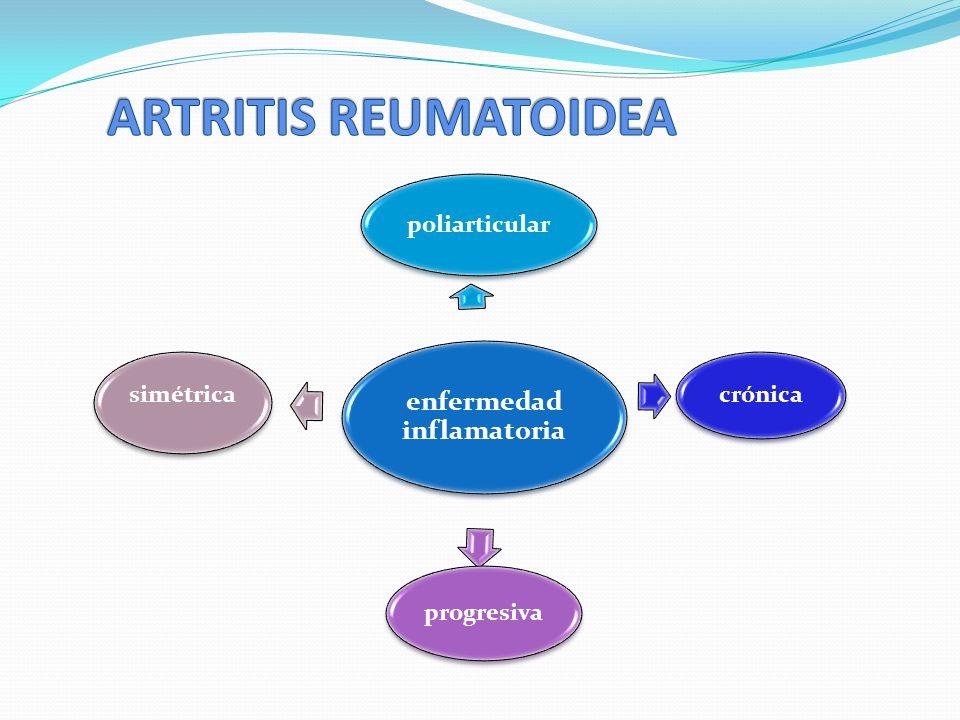 enfermedad inflamatoria poliarticular simétrica crónica progresiva