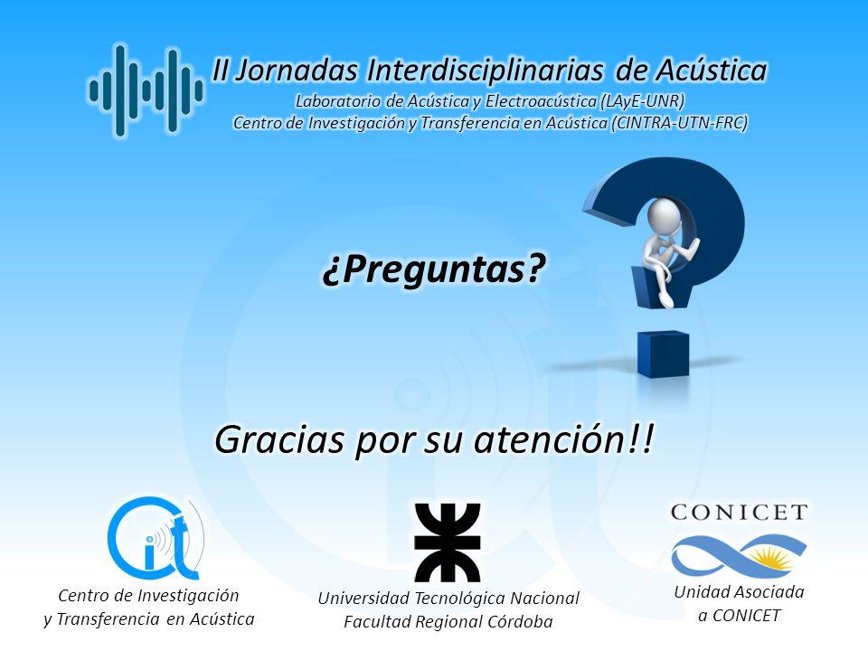 Centro de Investigación y Transferencia en Acústica Universidad Tecnológica Nacional Facultad Regional Córdoba Unidad Asociada a CONICET