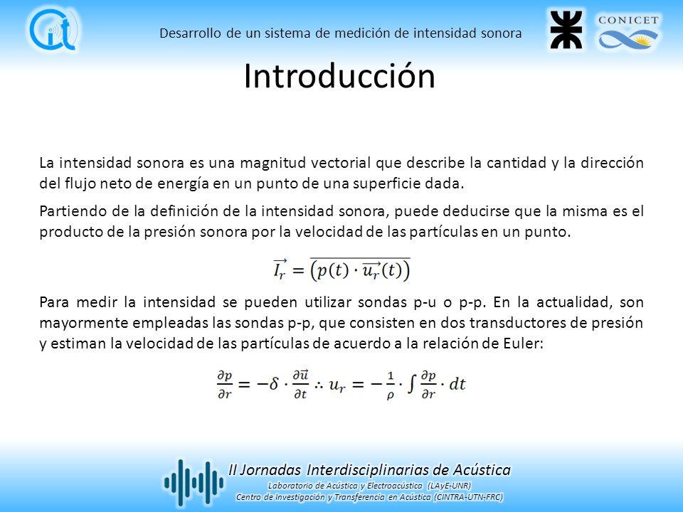 La intensidad sonora es una magnitud vectorial que describe la cantidad y la dirección del flujo neto de energía en un punto de una superficie dada.