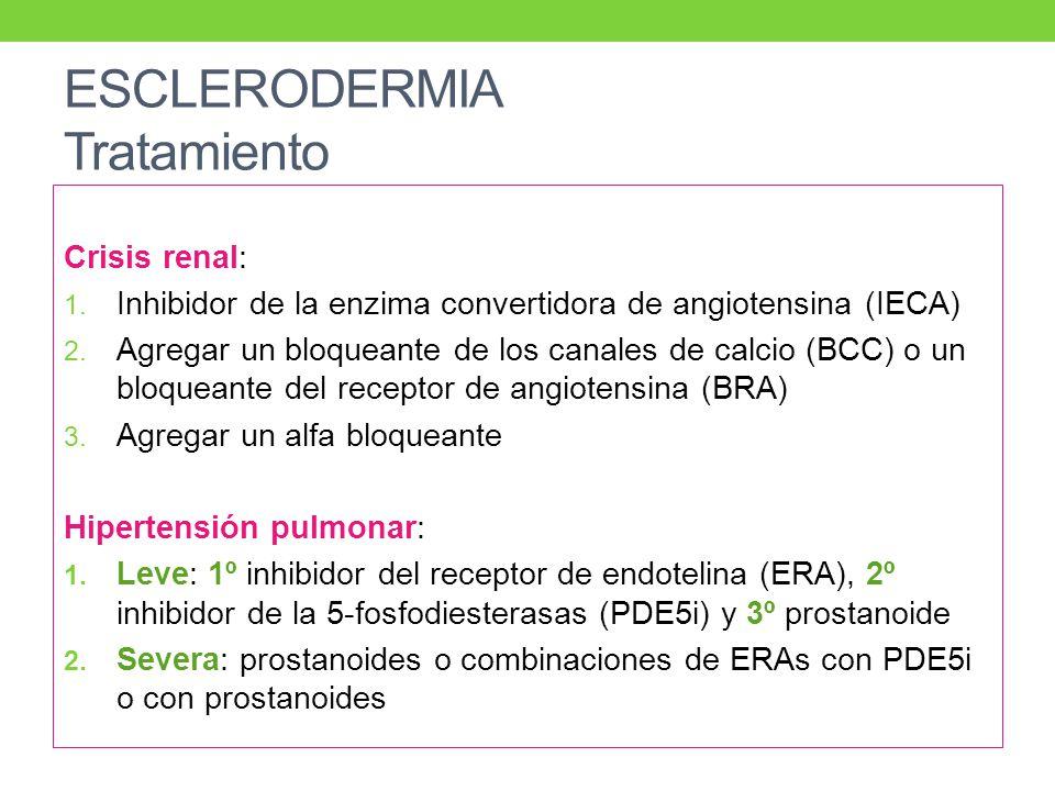 ESCLERODERMIA Tratamiento Crisis renal: 1.