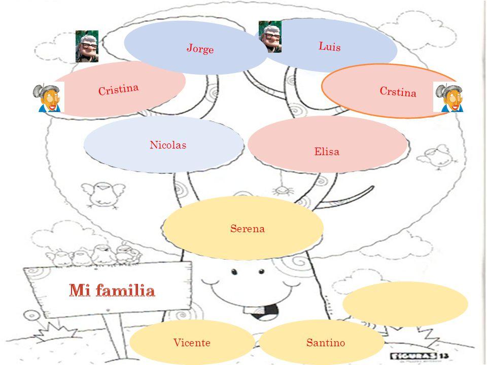 Luis Cristina Crstina Elisa Nicolas Serena Vicente Santino Jorge