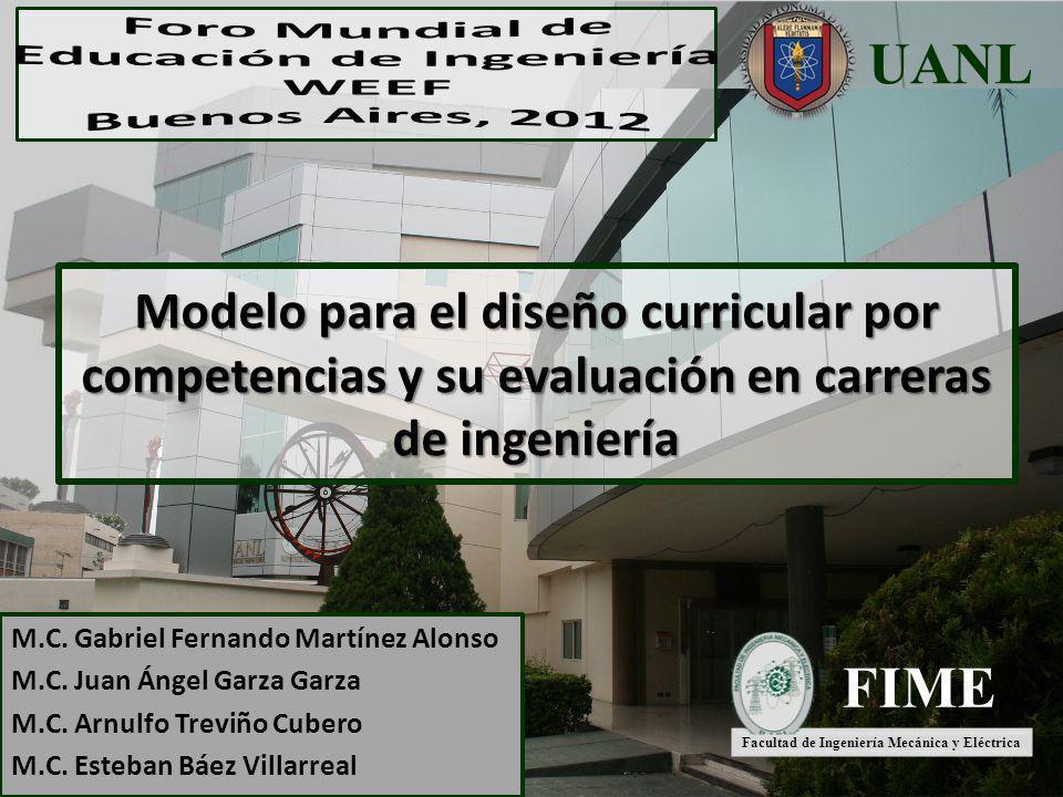 Modelo para el diseño curricular por competencias y su evaluación en carreras de ingeniería M.C. Gabriel Fernando Martínez Alonso M.C. Juan Ángel Garz