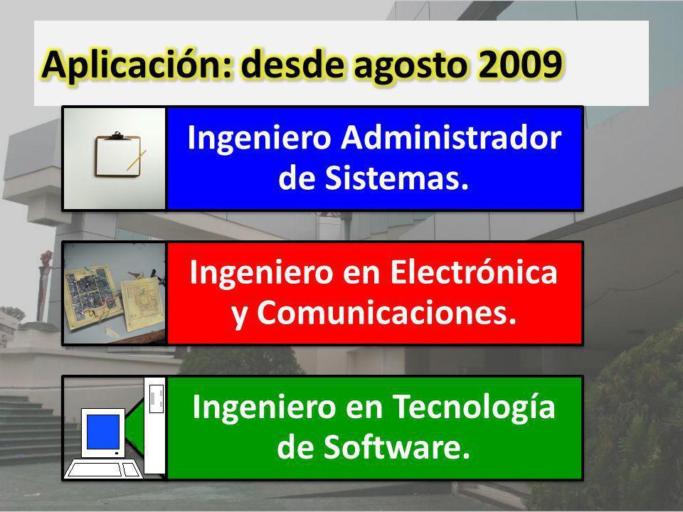 Ingeniero Administrador de Sistemas. Ingeniero en Electrónica y Comunicaciones. Ingeniero en Tecnología de Software.