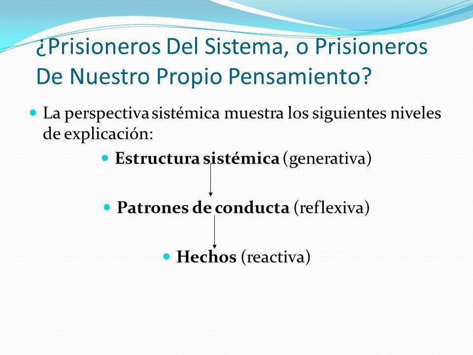 Pensamiento Sistémico- Un Cambio De Enfoque Es un sistema de regulación de agua con 5 variables Influencia PROCESO DE REALIMENTACIÓN