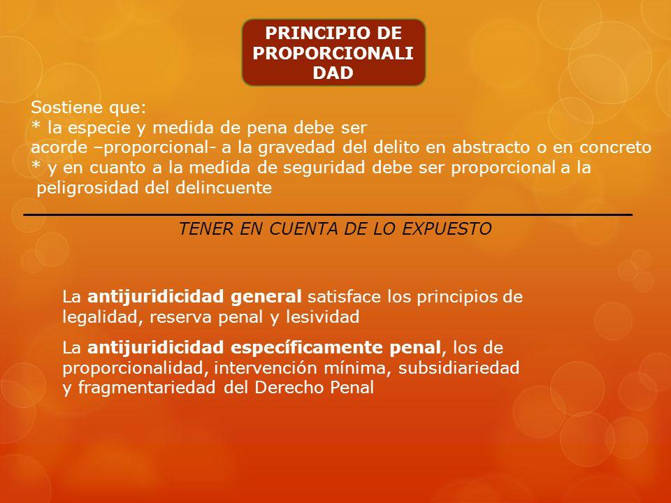 PRINCIPIO DE MÍNIMA SUFICIENCIA Presupone La aceptación de conflictos sin soluciones penales, aún ante comportamientos lesivos Derecho penal= lo mínim