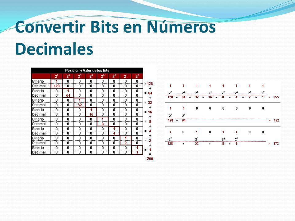 Convertir Bits en Números Decimales