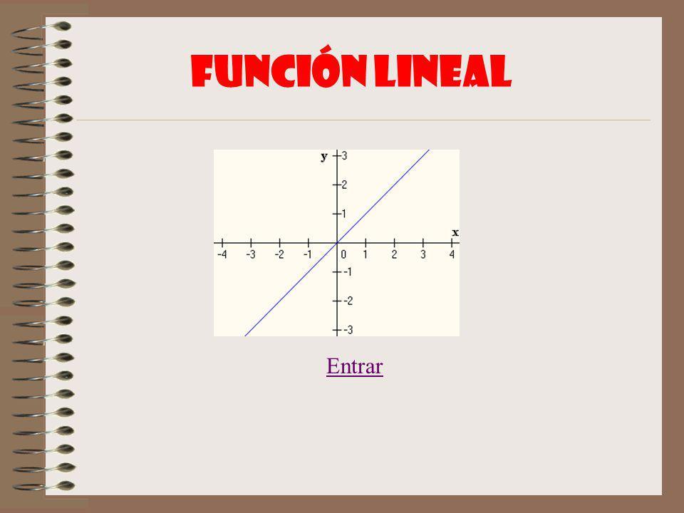 Función lineal Entrar