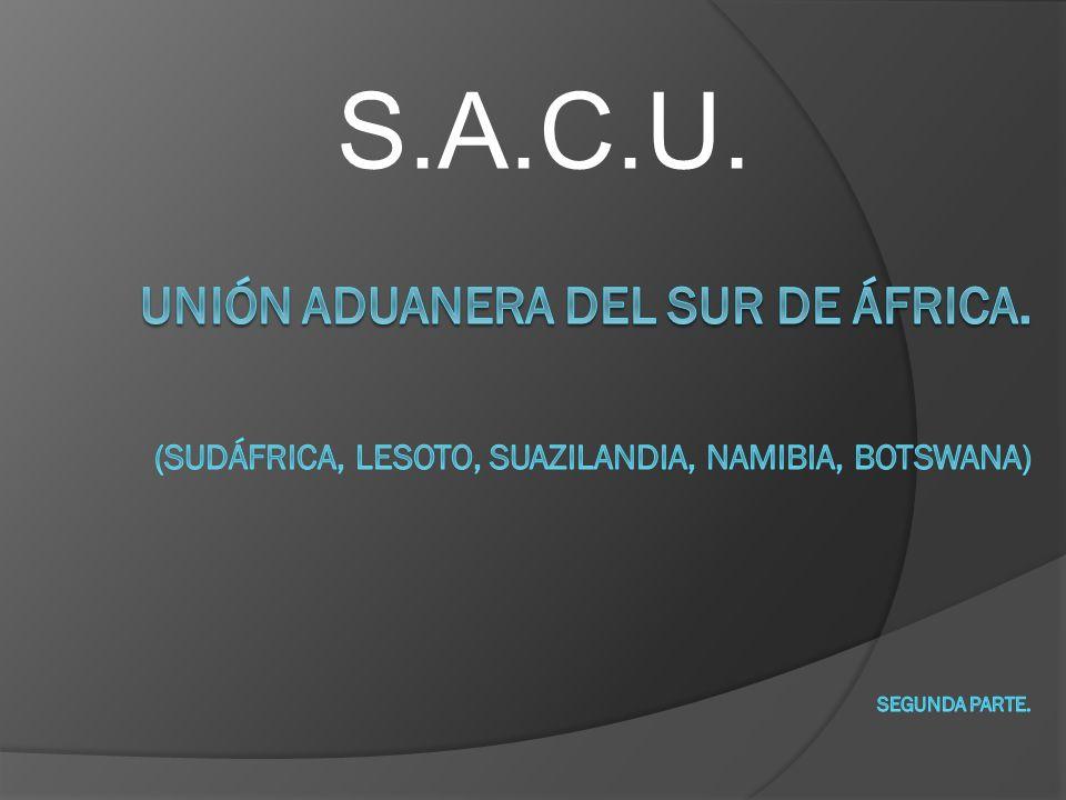 Productos de mayor exportación de SACU.METALES PRECIOSOS.