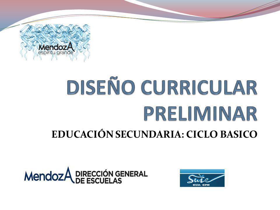 EDUCACIÓN SECUNDARIA: CICLO BASICO